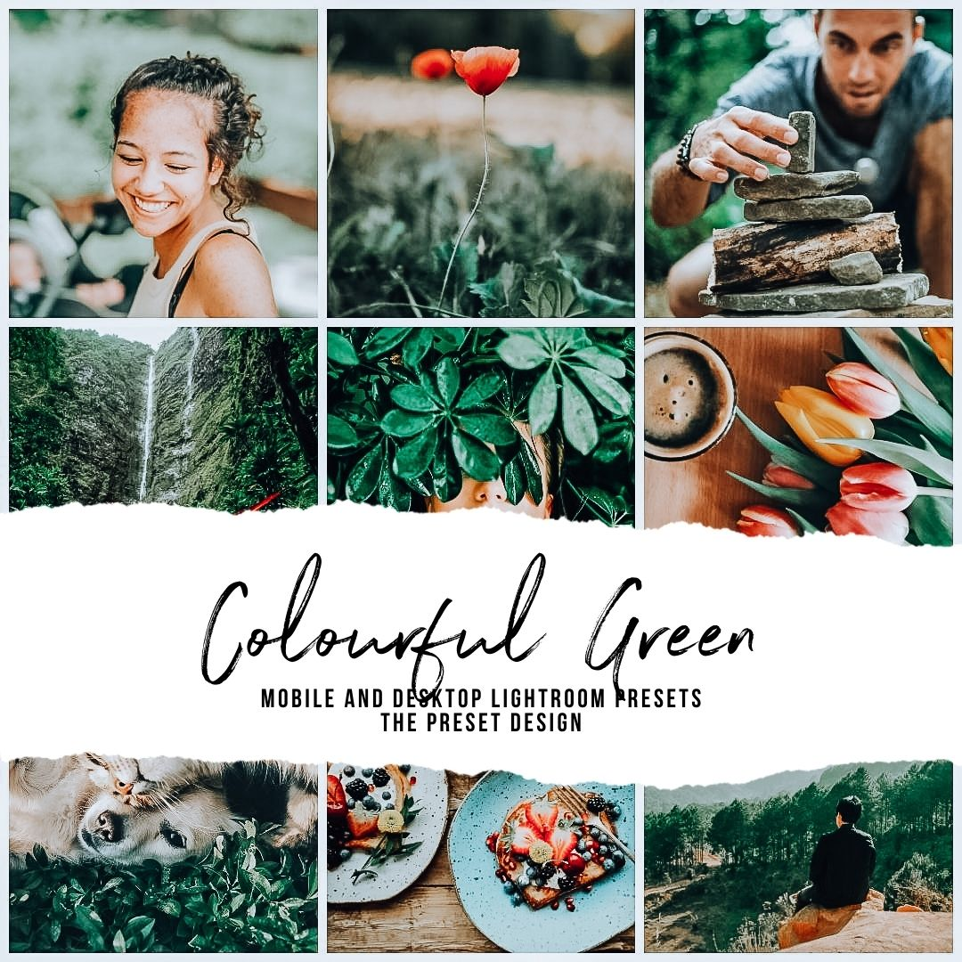 COLOURFUL GREEN - 5 Lightroom Presets