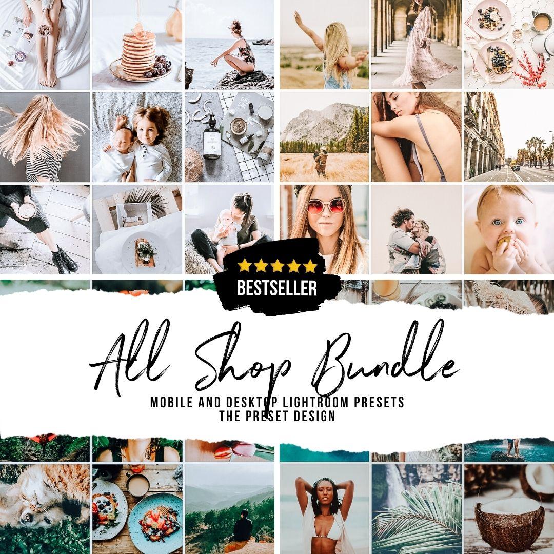 1 ALL SHOP BUNDLE - 50 Lightroom Presets
