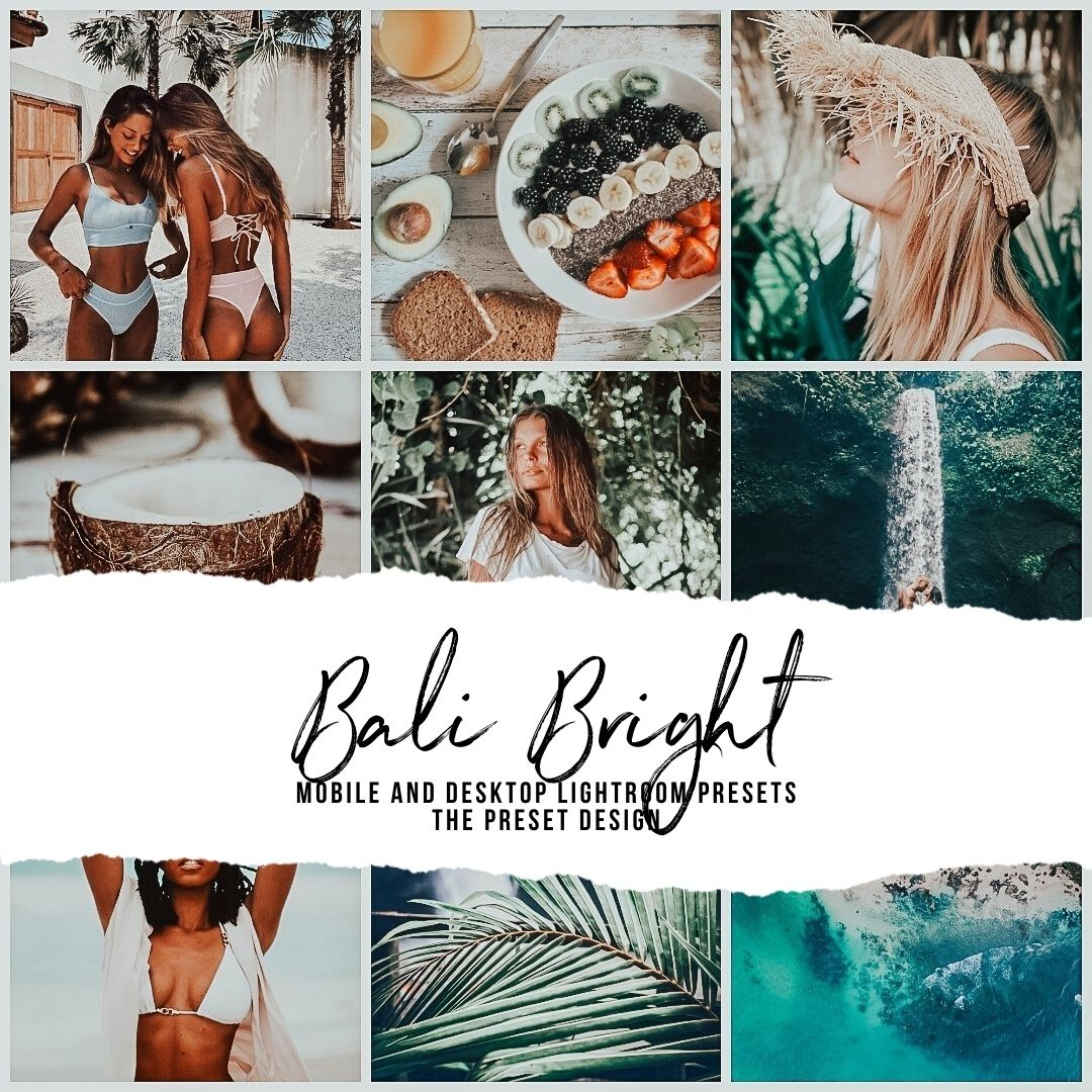 BALI BRIGHT - 5 Lightroom Presets