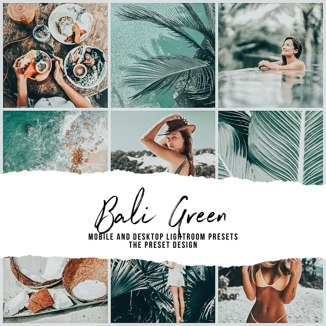 BALI GREEN - 5 Lightroom Presets