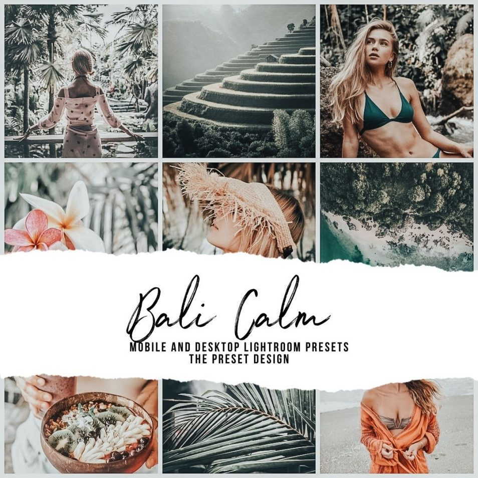 Tropical Presets, Green Presets, Bali Calm Presets