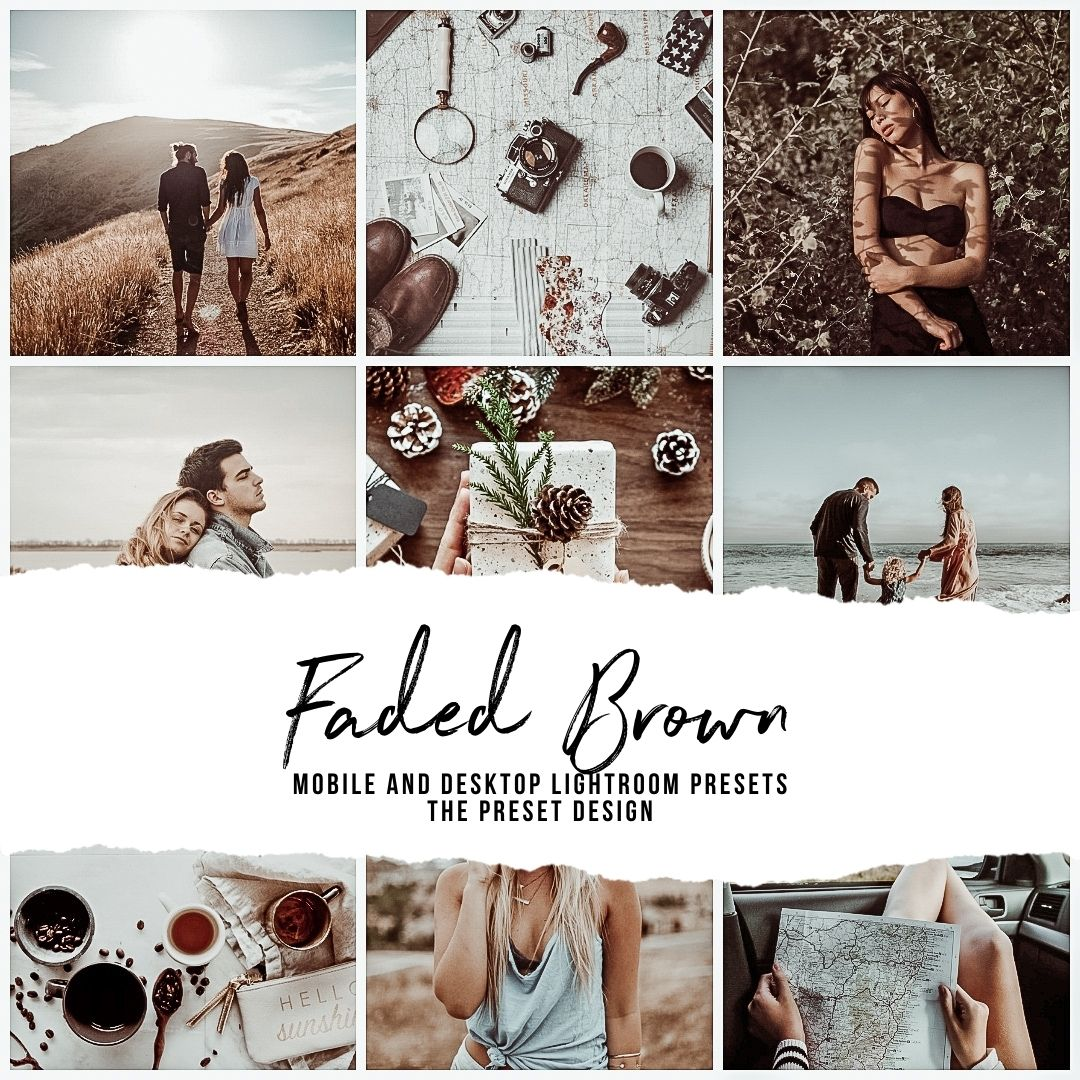 FADED BROWN - 5 Lightroom Presets
