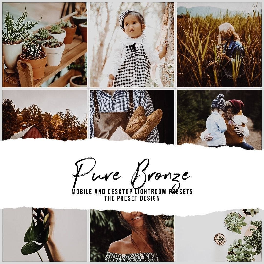 PURE BRONZE - 5 Lightroom Presets