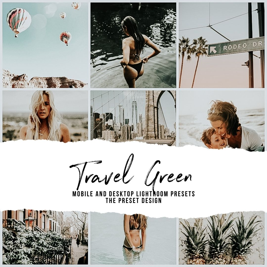 TRAVEL GREEN - 5 Lightroom Presets