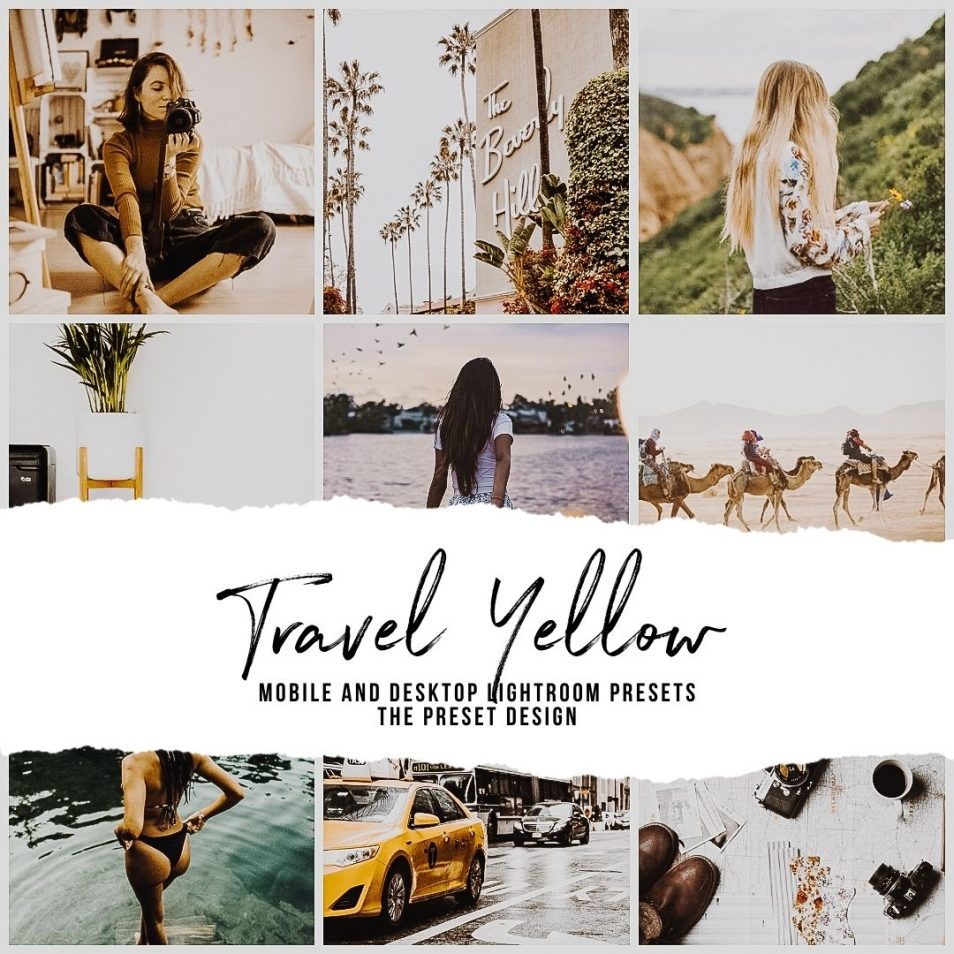 Yellow Presets, Travel Presets for Lightroom