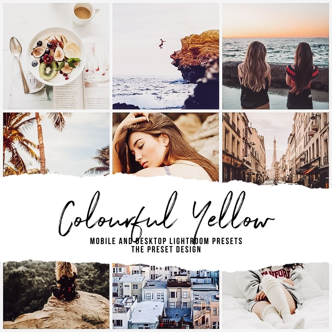 COLOURFUL YELLOW - 5 Lightroom Presets