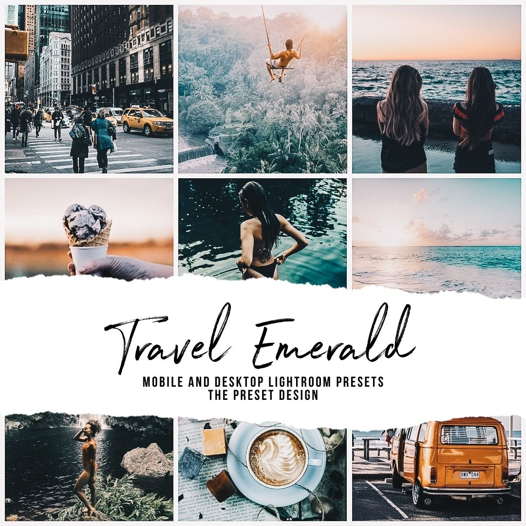 TRAVEL EMERALD - 5 Lightroom Presets