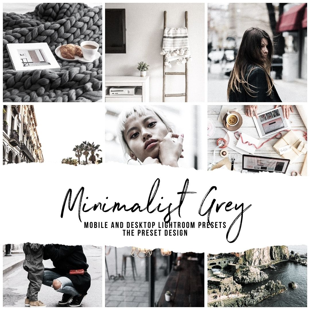 MINIMALIST GREY - 5 Lightroom Presets