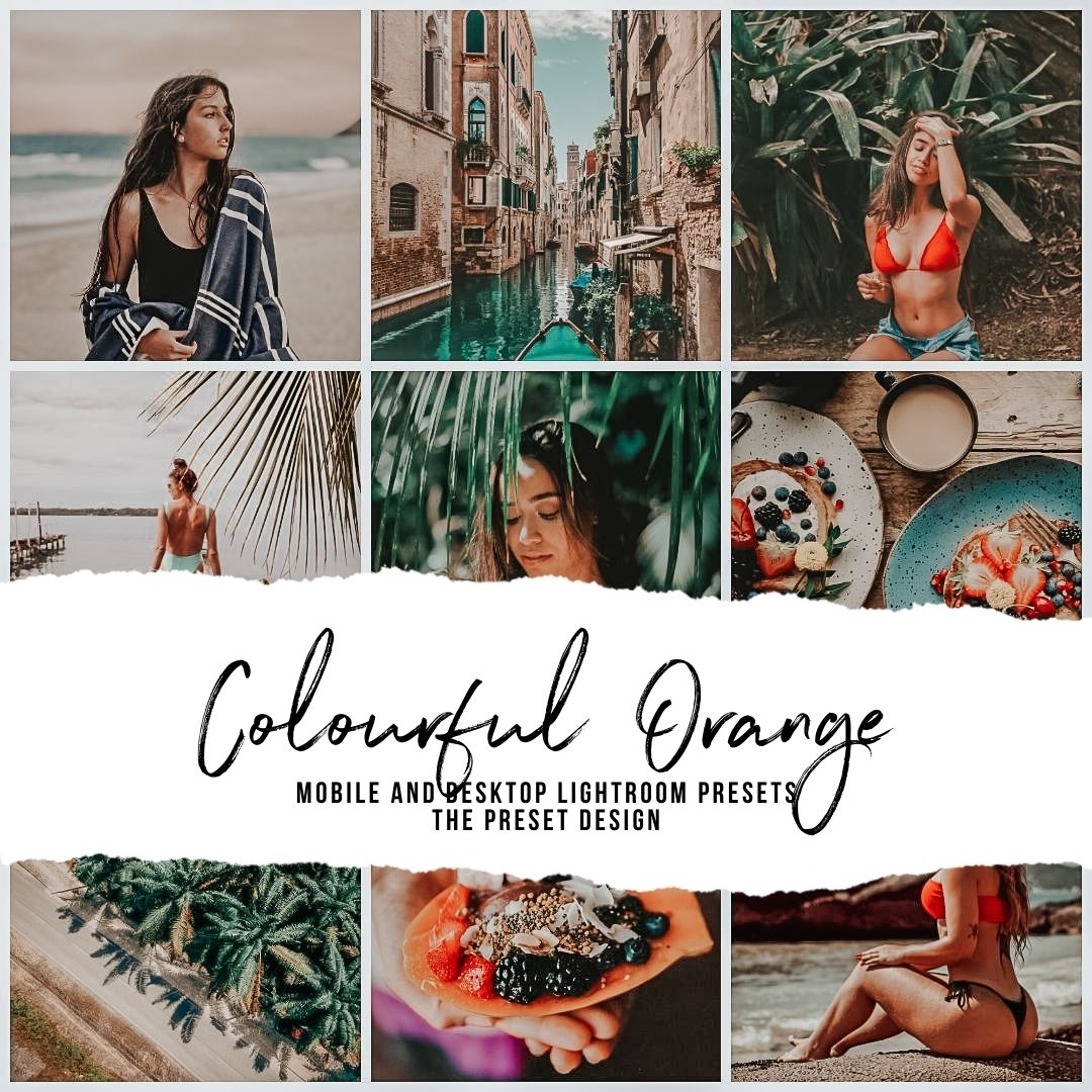 COLOURFUL ORANGE - 5 Lightroom Presets