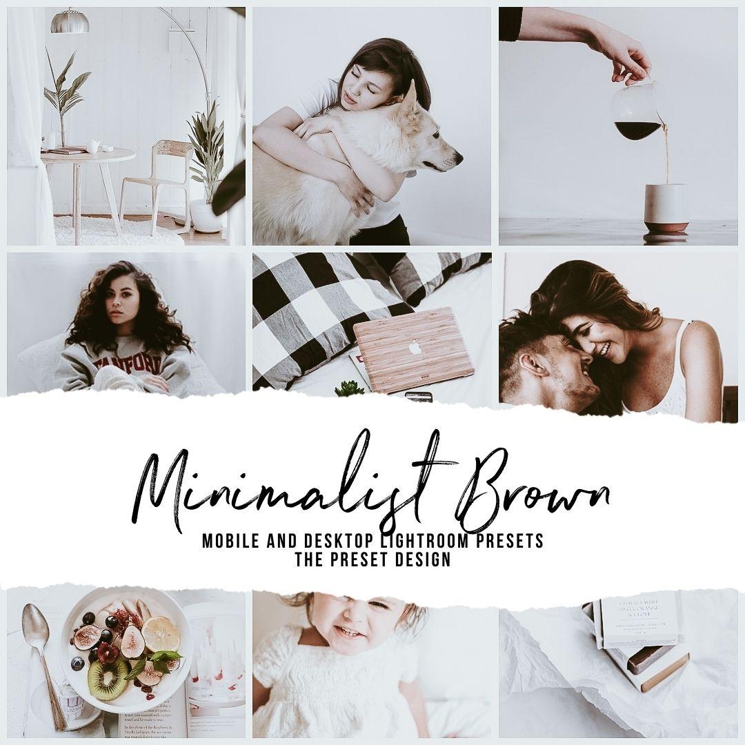MINIMALIST BROWN - 5 Lightroom Presets