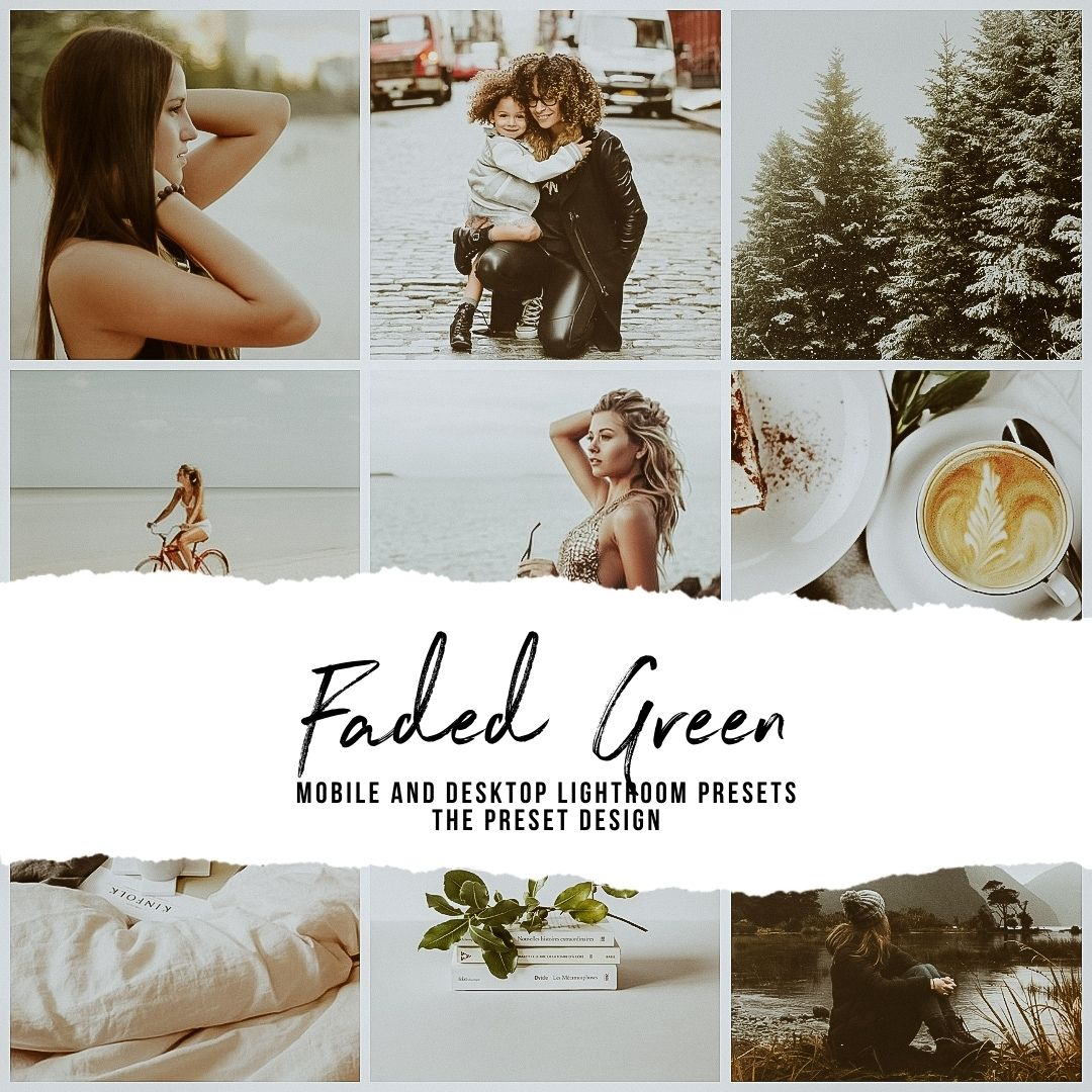 FADED GREEN - 5 Lightroom Presets