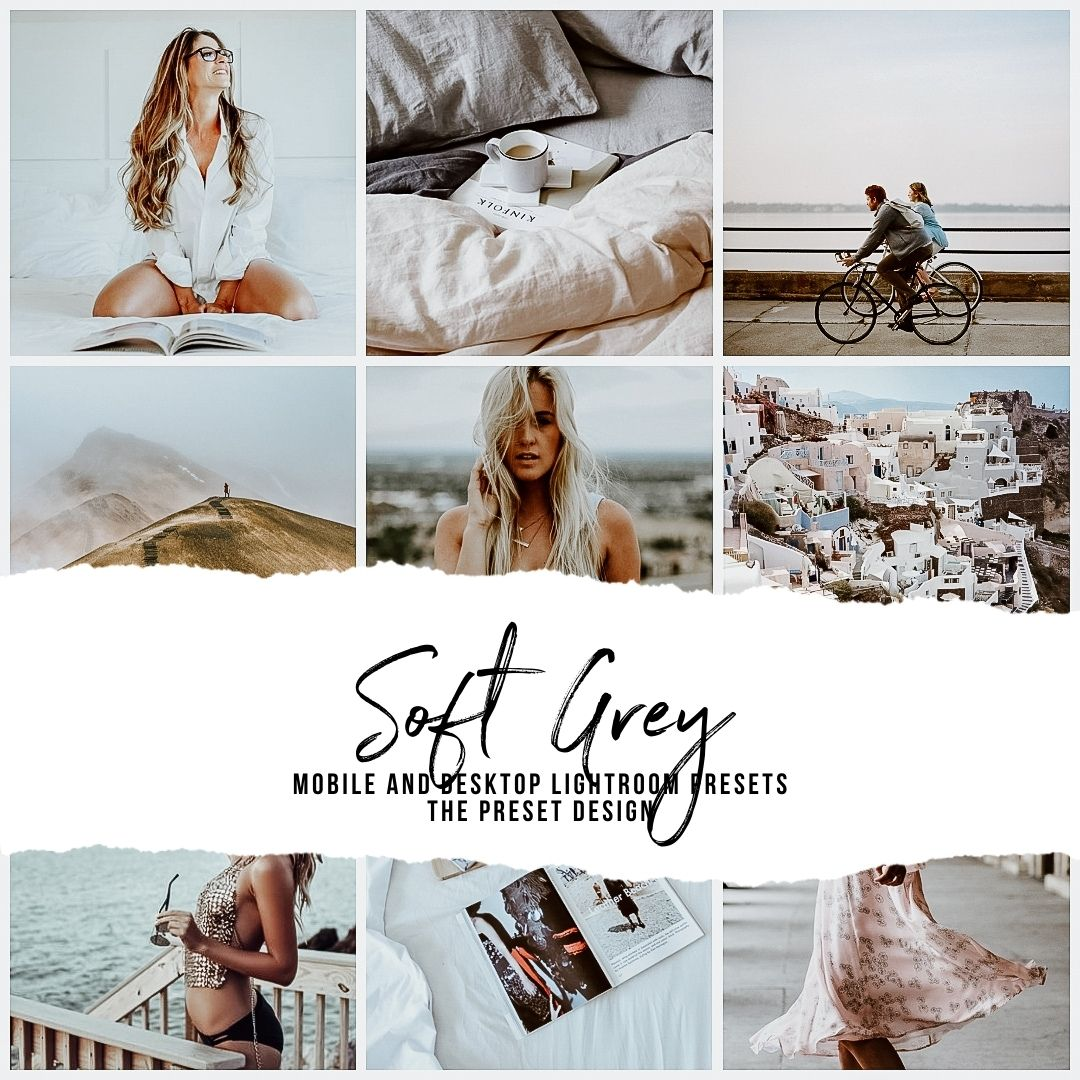 SOFT GREY - 5 Lightroom Presets