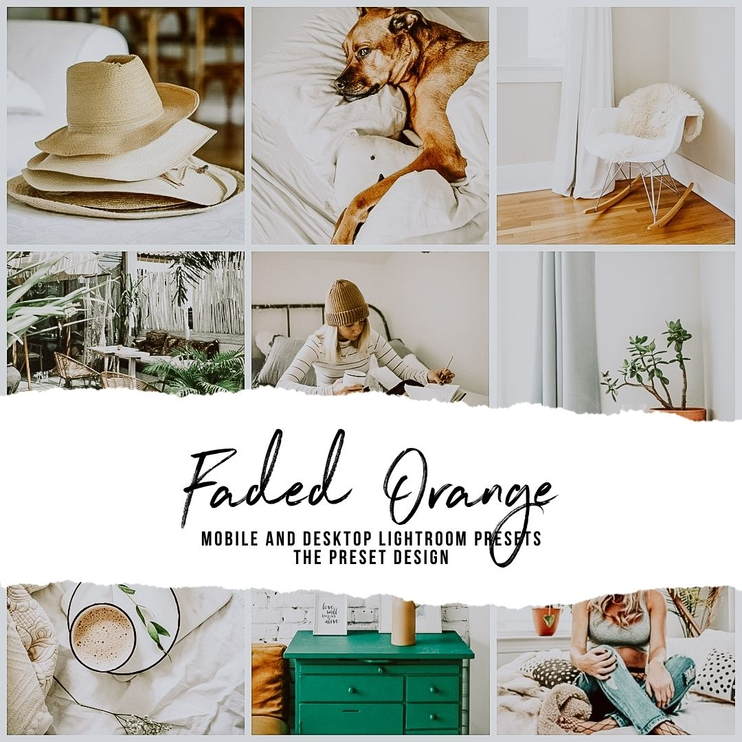FADED ORANGE - 5 Lightroom Presets