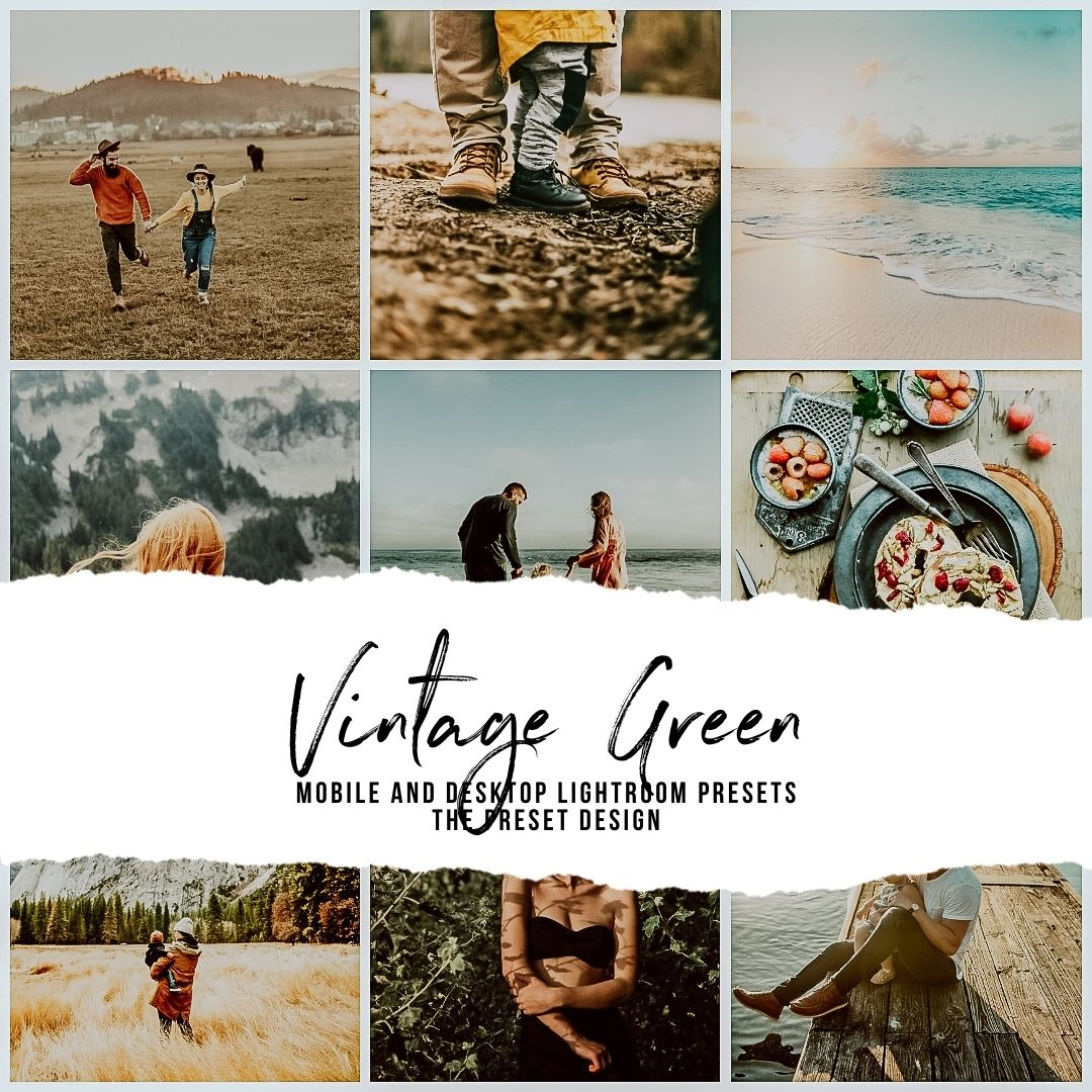 VINTAGE GREEN - 5 Lightroom Presets