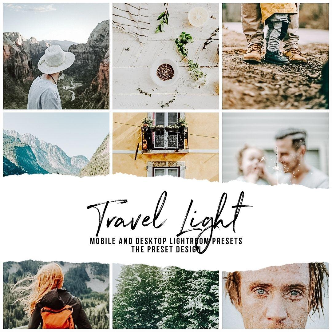 TRAVEL LIGHT - 5 Lightroom Presets