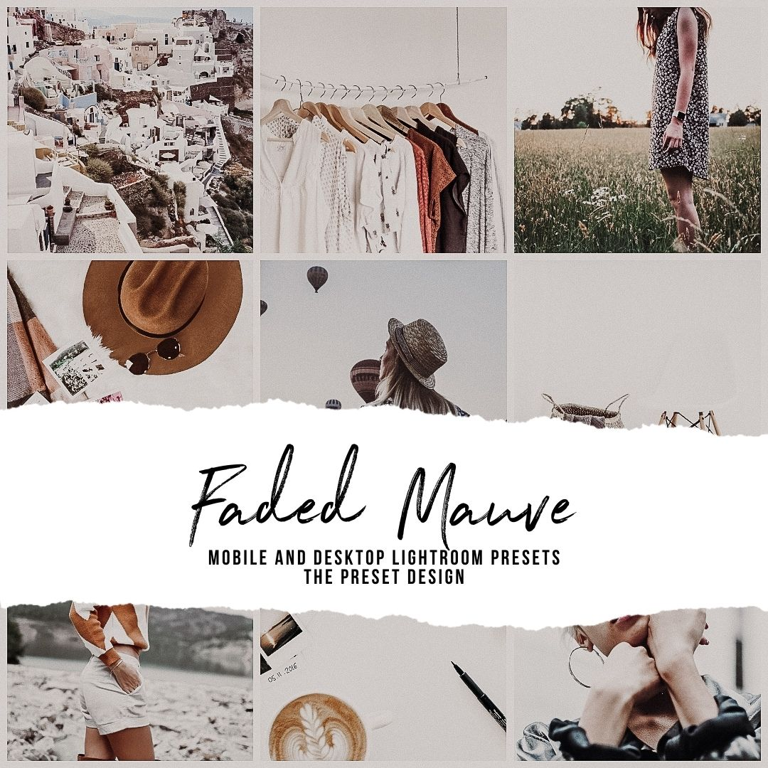 FADED MAUVE - 5 Lightroom Presets