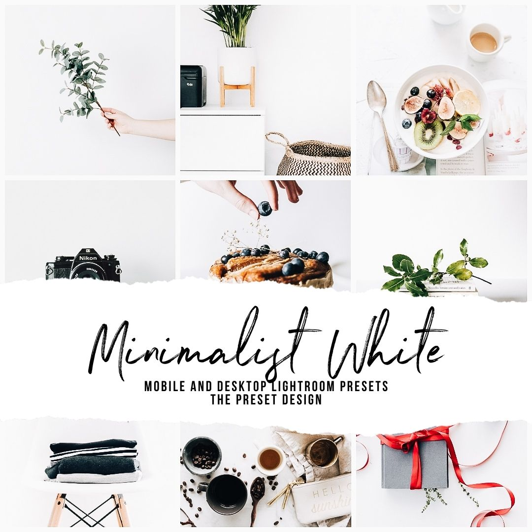 MINIMALIST WHITE - 5 Lightroom Presets
