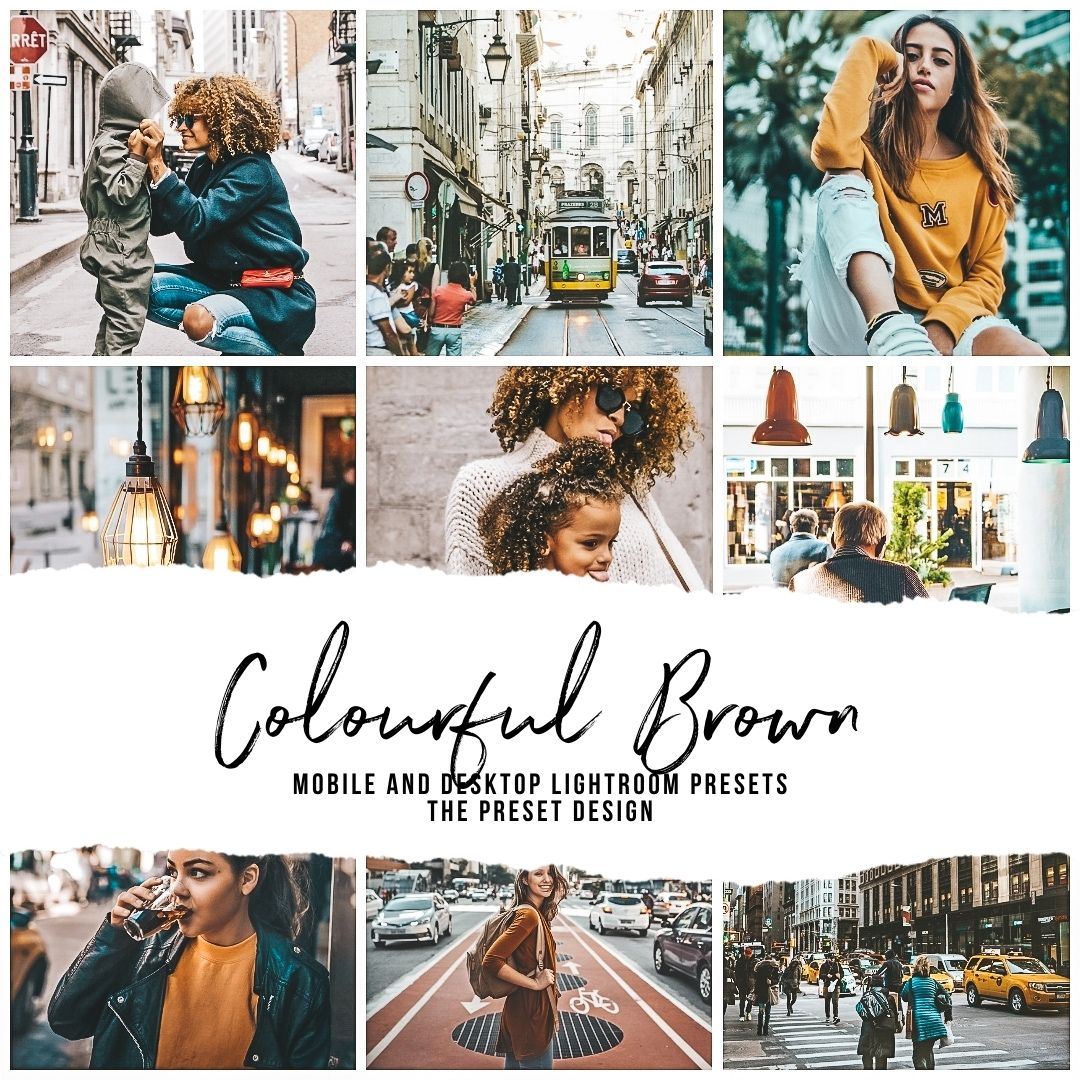 COLOURFUL BROWN - 5 Lightroom Presets