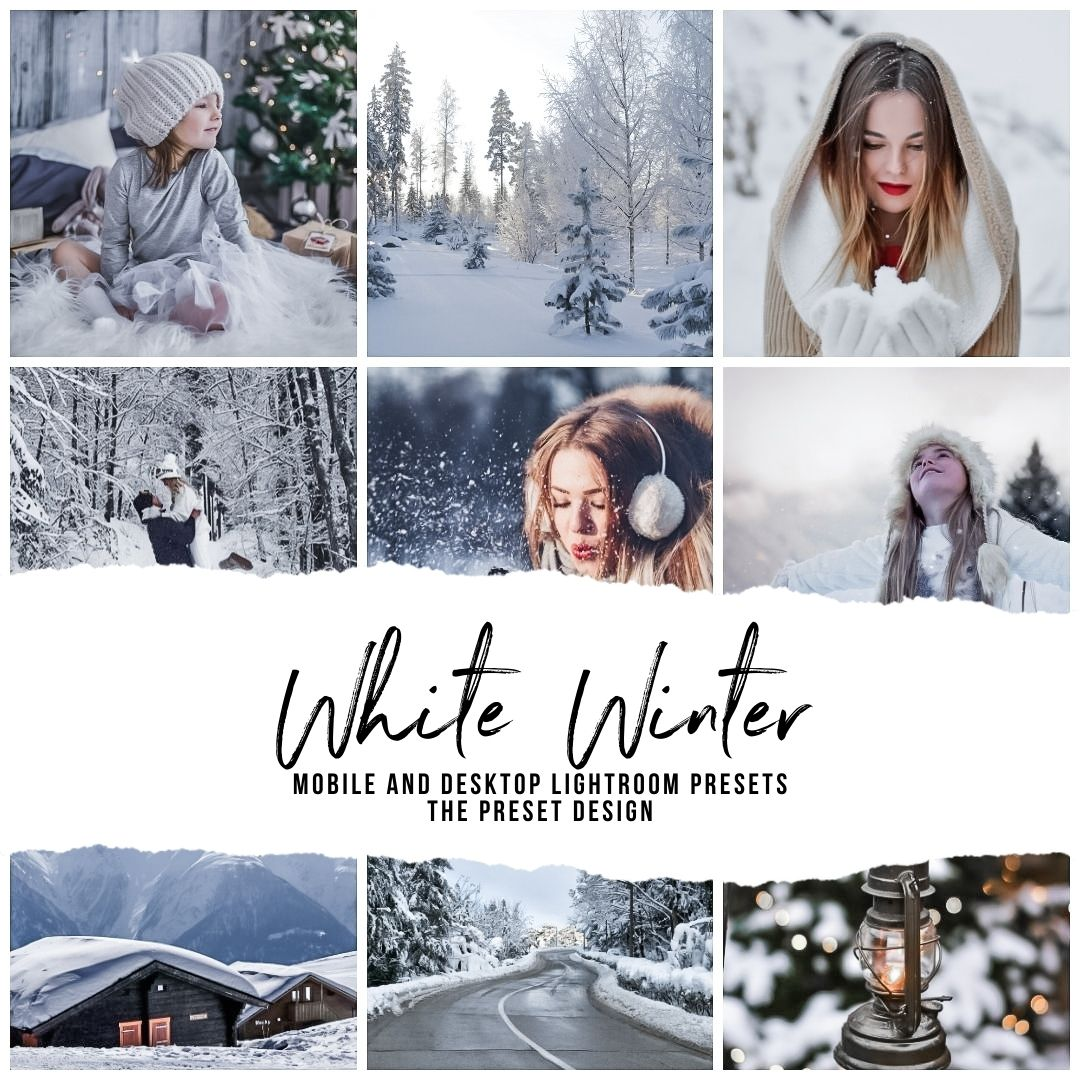 WHITE WINTER - 5 Lightroom Presets
