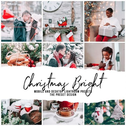 Christmas Lightroom Presets, Bright Winter Lightroom Mobile Presets & Desktop Lightroom Presets for Instagram