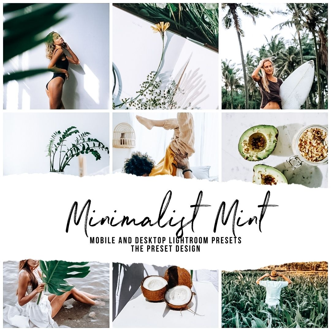MINIMALIST MINT - 5 Lightroom Presets