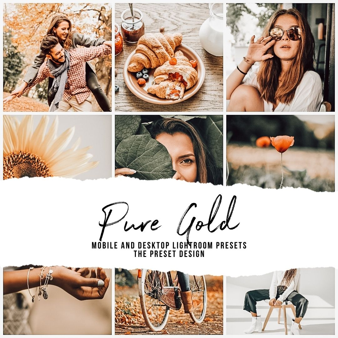 PURE GOLD - 5 Lightroom Presets