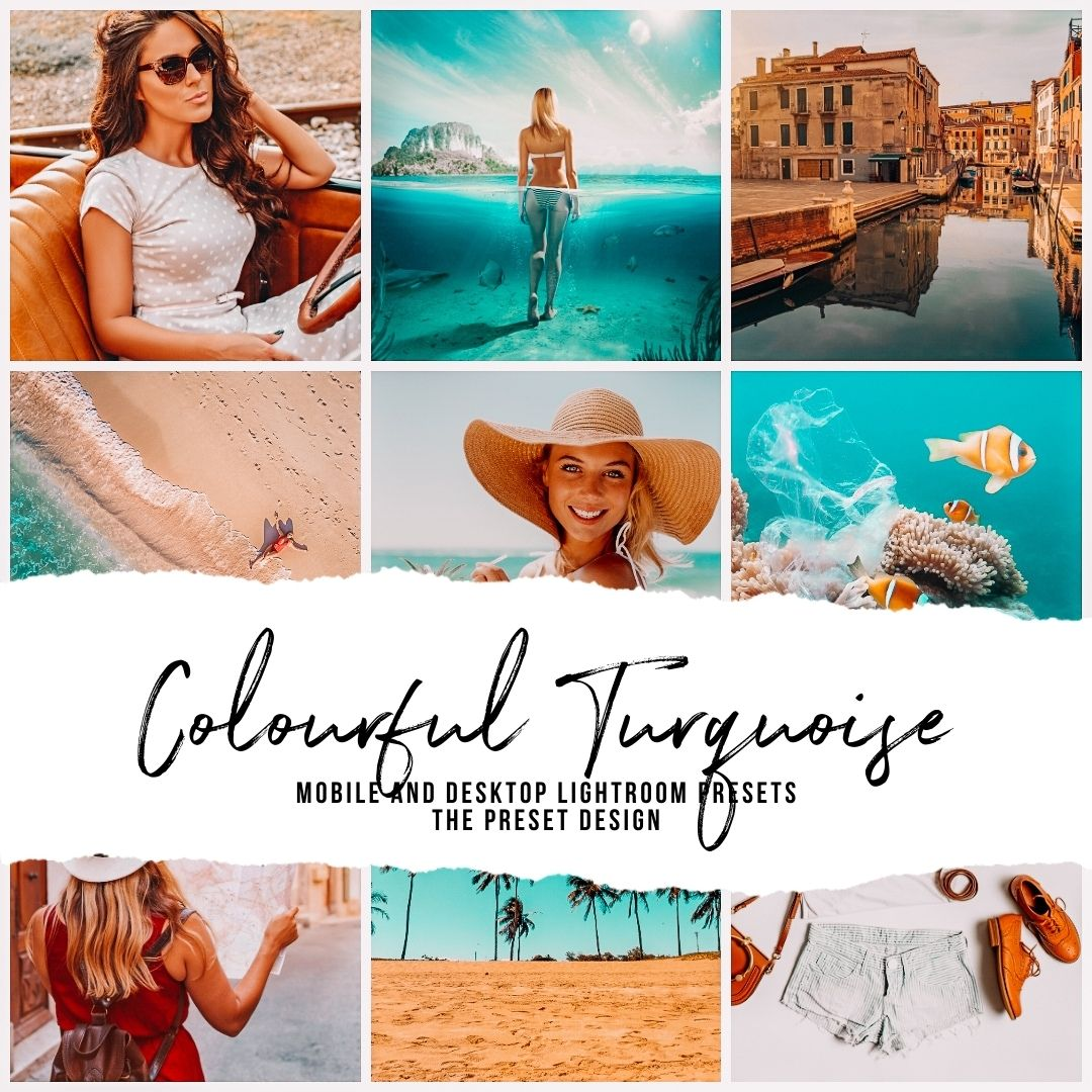 COLOURFUL TURQUOISE - 5 Lightroom Presets