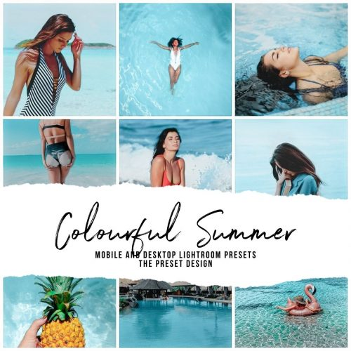 Summer Beach Presets for Lightroom., Mobile presets and Desktop presets
